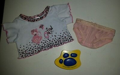 Build a Bear Clothes Clothing - Top Undies and Brush