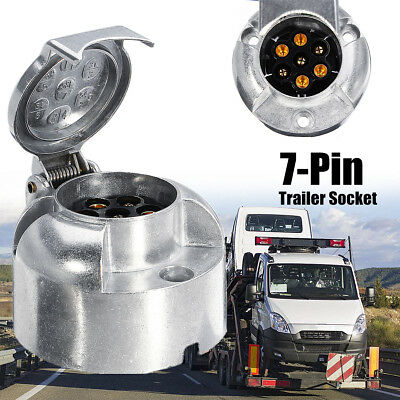 7 Pin Euro Caravan Socket Plug Connector Adapter Trailer Van Tow Bar Towing 12V