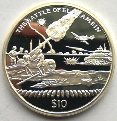 Sierra Leone 2005 Battle of El Alamein 10 Dollars Silver Coin,Proof