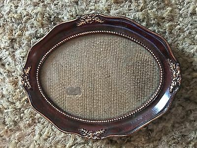 Small Vintage Wooden Picture Oval Frame