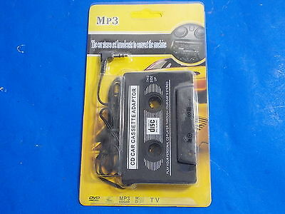 CAR CASSETTE Adapter AUX 3.5mm iPod MP3 Player to Tape Converter Shuffle MP4