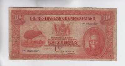 New Zealand one old note vg tear at bottom
