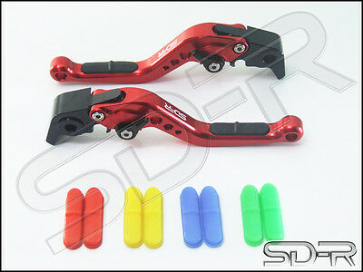 Kawasaki ZG 1000 CONCOURS 1992-2006  SDR RCI Short Adjustable Levers RED