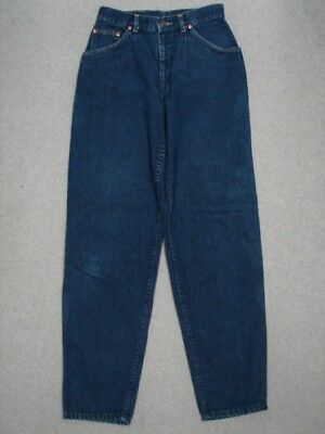 QB03405 VINTAGE 1970s **LEE** 302 HIGH WAIST RELAXED FIT WOMENS JEANS sz11 DARK