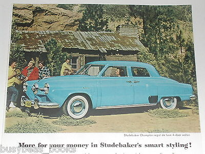 1950 STUDEBAKER CHAMPION advertisement, color photo Studebaker Champion ad