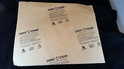 """Zerust Excor Ict-420-3A Vci Kraft Paper 10""""x12"""" Class 3 - New - Box Of 1000"""