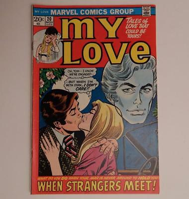 1972 Bronze Age Teen Comic Book My Love Marvel No. 20