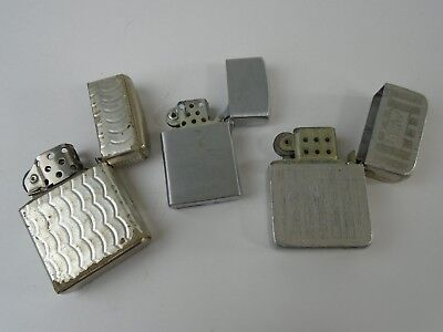 Lot of 3 Vintage Lighters - AS IS Parts or Repair - Champ Park ATC