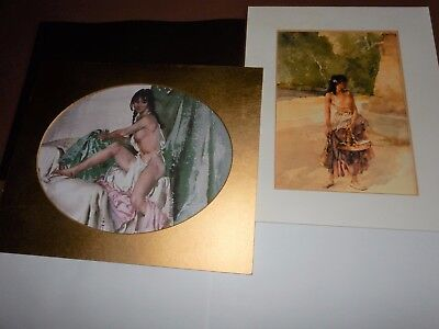 Two unframed William Russell Flint prints