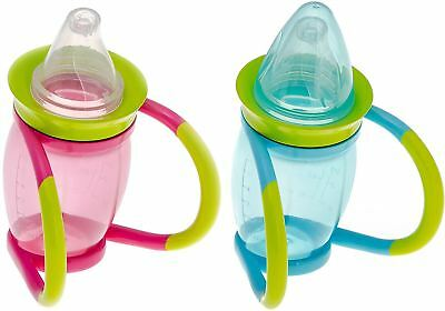 Brother Max 4 IN 1 TRAINER CUP Baby/Toddler Bottle Pink/Blue 4m+ 170ml BN