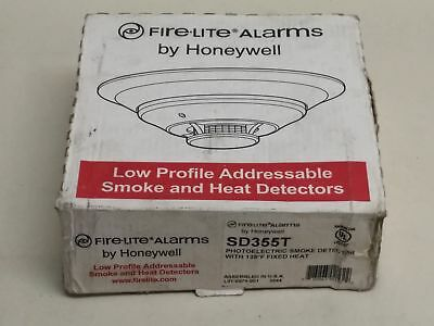 New Honeywell Fire Lite SD355T Low Profile Addressable Smoke and Heat Detector