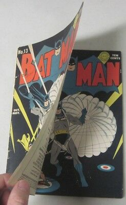 Batman #13 Oct.-Nov. 1942 Dc Comics Rare Double Cover