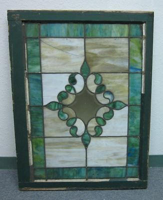 Large (27x36) Beautiful Antique Stained Glass Window Architectural Salvage