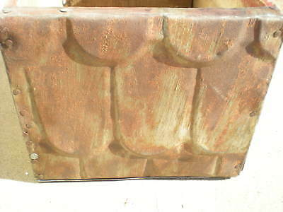 SALE Primitive Hand Tooled Box Edwards Copper Bearing Steel Ceiling Tin Chic