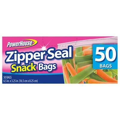 Personal Care 92793-3 Zip Snack Bag 50 Count Pack of 24