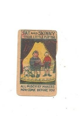 Vintage strip card Fat and Skinny their little pup too