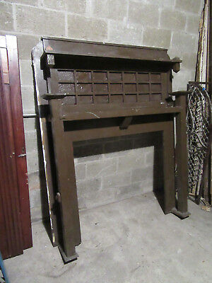 ~  Antique Oak Fireplace Mantel Mission Style  ~ 41.5 Inch Opening ~ Salvage