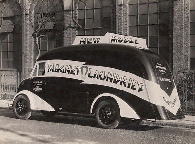 ?ford? Van, Sign Written For  Magnet Laundries Period Photograph.