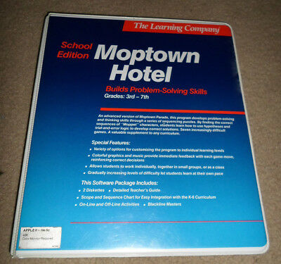 Moptown Hotel by The learning Company For The Apple IIe IIc