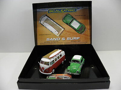 Scalextric C3371A Slot Car Set Sand & Surf VW Käfer u. T1b  Limited Edition 1:32