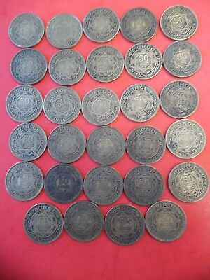 Lot of (29) Coins from Morocco 50 Francs