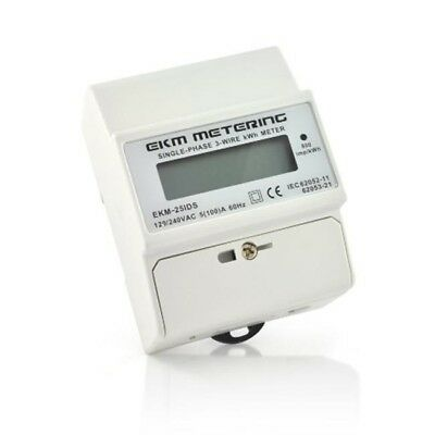 EKM 100A, 120 & 240V, 3-Wire Electric kWh Meter 60 Hz