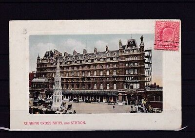 Großbritannien AK London, Charging Cross Hotel and Station, 1909 (48409