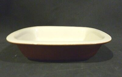 MOIRA POTTERY  brown/cream  oven/ baking dish England