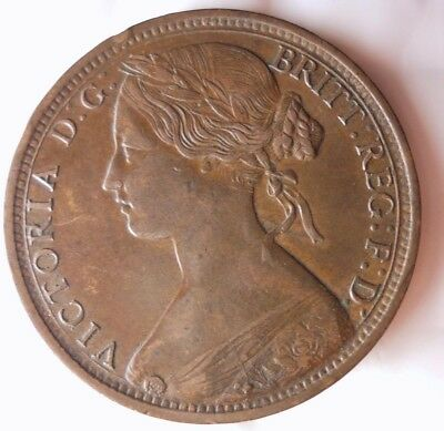 1862 GREAT BRITAIN PENNY - VERY HIGH GRADE DETAILS - Huge Value Coin - Lot #N21