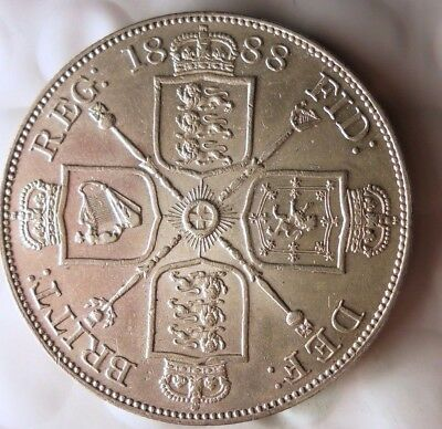 1888 GREAT BRITAIN CROWN - AU - Extremely High Value Coin - MUST SEE - Lot #N21