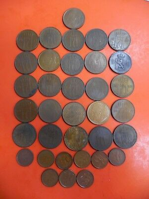 Lot of (35) Coins from Norway 5 Ore