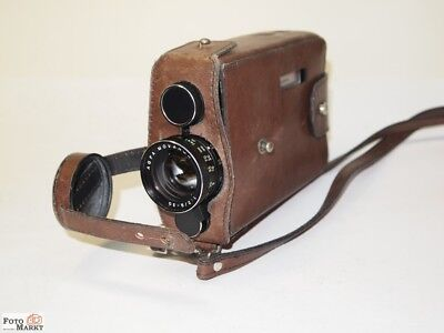 AGFA SUPER 8 Film Camera Microflex 200 in owner leather bag