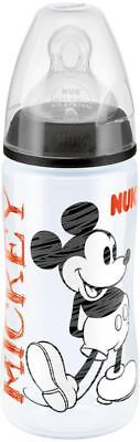 NUK FIRST CHOICE DISNEY 300ML BOTTLE BLACK With Silicone Teat Size 2 Baby BN