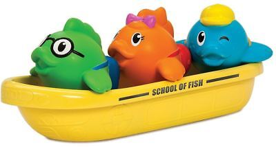 Munchkin SCHOOL OF FISH Toddler/Child Bathing Fun Toy Squirts Water Play BN