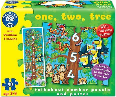 Orchard Toys ONE, TWO, TREE! Kids/Children's Counting Jigsaw Puzzle/Poster BN
