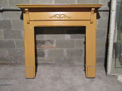 ~  Antique Carved Oak Fireplace Mantel 54.25 X 48.5  ~  Architectural Salvage