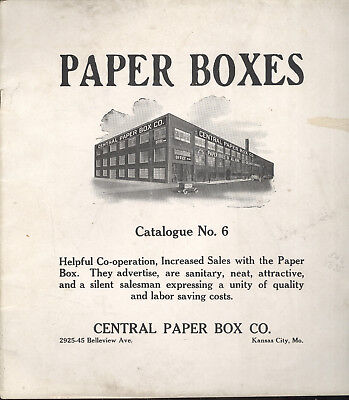 1930S Paper Box Catalog, Central Paper Box Co. Kansas City, Mo Advertising Boxes