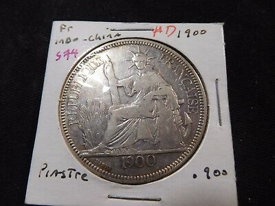 INV #S74 French Indochina 1900 Piastre