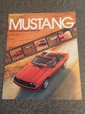 1981 Ford Mustang Car Auto Dealership Advertising Brochure