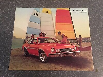 1977 Ford Pinto Car Auto Dealership Advertising Brochure