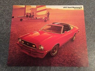 1977 Ford Mustang II Car Auto Dealership Advertising Brochure