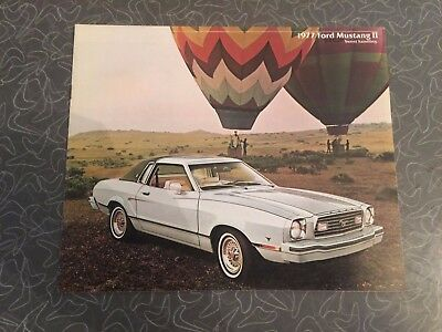 1977 Ford Mustang II Car Sales Auto Dealership Advertising Brochure