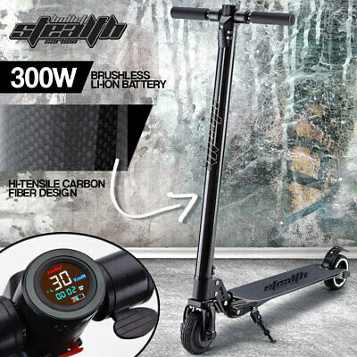 BULLET 300W 4.4Ah Electric Scooter Carbon Fiber Portable Foldable Commuter Bike