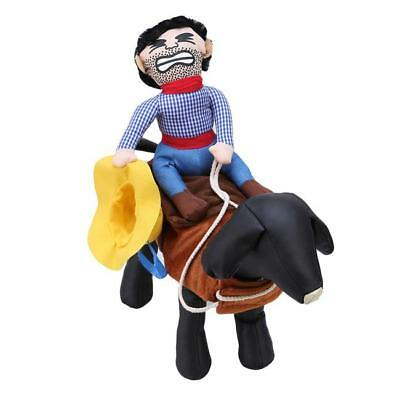 Funny Cowboy Dog Cat Rider Cosplay Costume Pet Puppy Party Coat Clothes Dress Up