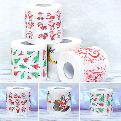 Santa Claus Printed Merry Christmas Toilet Paper Tissue Table Room Home Decor