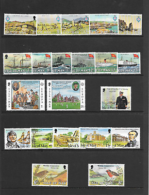 ISLE of MAN 1980 Commemoratives - 6 sets - u/m