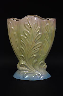 PATES Pottery LARGE Lustreware VASE *height 29cm* Australian yellow/pink/blue