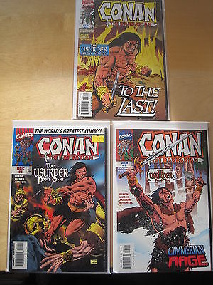 CONAN : The USURPER : complete 3 issue series by DIXON,LIEBER,JANSON.MARVEL.1997