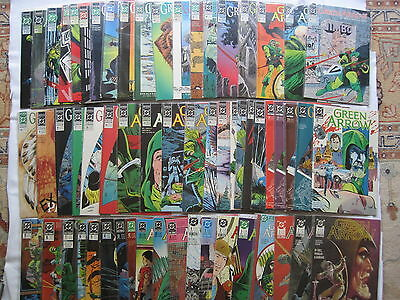 GREEN ARROW : COMPLETE RUN of ISSUES 1 - 59 of the 1988 SERIES by GRELL etc. DC
