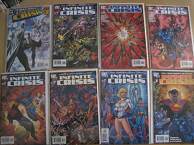 INFINITE CRISIS : COMPLETE 7 ISSUE SERIES + 1-SHOT by JOHNS,JIMENEZ,LANNING.2005